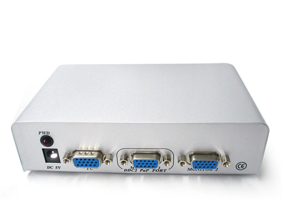 250mhz Metal 2 Port Vga Splitter Kvm Switch Vga
